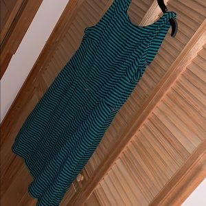 Green Stripped Cocktail Dress